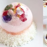 【CAFE推薦】心心眼系列之夢幻香檳鮮花水晶球|韓國首爾 SONA 소나 甜品咖啡店|吃貨伴旅 CACAmazing Travel